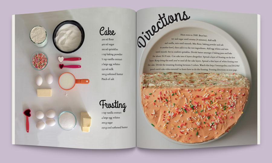 recipe layout